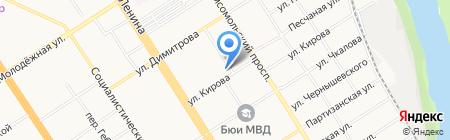 Региональный центр международного сотрудничества вузов Западной Сибири на карте Барнаула