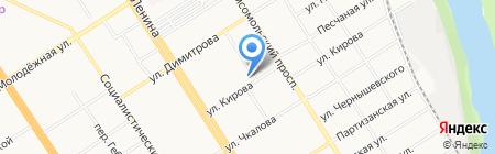 Банкомат Сбербанк России на карте Барнаула
