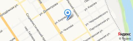 Ремотная компания на карте Барнаула