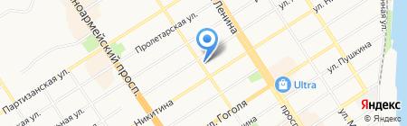 Консалта на карте Барнаула