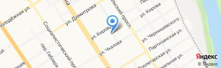 Кавырбот на карте Барнаула