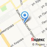 Алтайский государственный технический университет им. И.И. Ползунова на карте Барнаула
