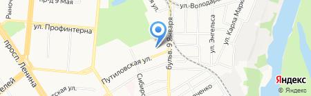 Сайтроуд на карте Барнаула