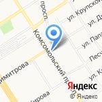 Гелиос на карте Барнаула