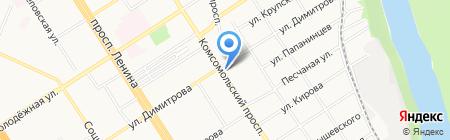 Подружки на карте Барнаула