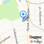 Сибэнерготелеком на карте Барнаула