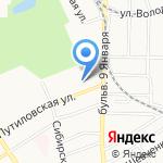Ваш отель Хаус Сити на карте Барнаула