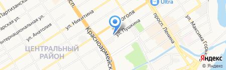 Пирант-Алтай на карте Барнаула
