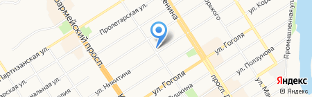РОСЛОТЦЕНТР на карте Барнаула