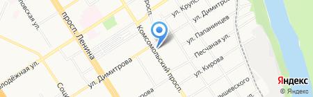 Славянка на карте Барнаула