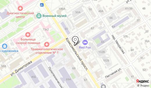 Гелиос. Схема проезда в Барнауле