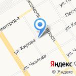 Киоск по ремонту обуви и изготовлению ключей на карте Барнаула