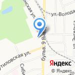 Клевченя на карте Барнаула