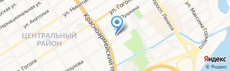 Барнаульская Горэлектросеть на карте Барнаула