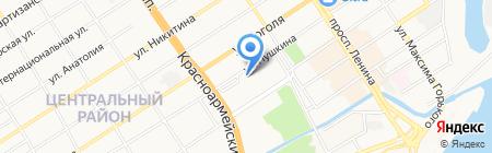 Детский сад №76 на карте Барнаула