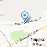 Детская городская поликлиника №2 на карте Барнаула
