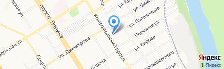 Софи на карте Барнаула