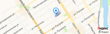 Коралл на карте Барнаула