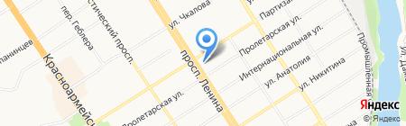 Управление ФСБ России по Алтайскому краю на карте Барнаула