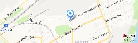 Пансионат на карте Барнаула