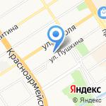 Почтовое отделение №43 на карте Барнаула