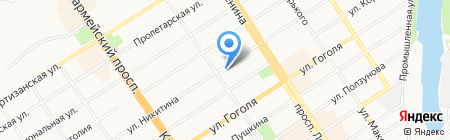 НикДан на карте Барнаула