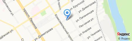 Владимирская крепость на карте Барнаула