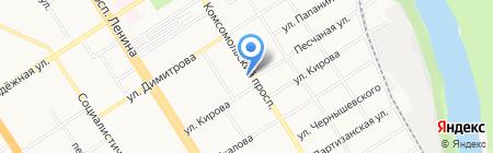 Ювента на карте Барнаула