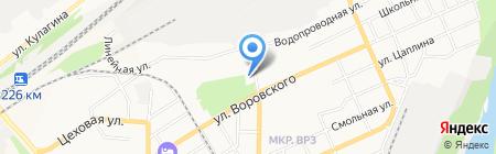 Дом культуры Октябрьский на карте Барнаула