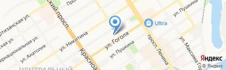 РОСС на карте Барнаула