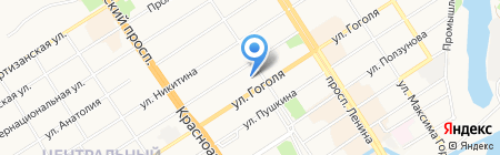 Макарыч на карте Барнаула