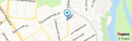 Управление Судебного департамента в Алтайском крае на карте Барнаула