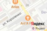 Схема проезда до компании Глазурь в Барнауле