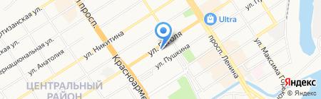 ОКНА FOGEL на карте Барнаула
