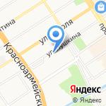 Тайрон на карте Барнаула