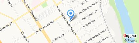 Скрепка на карте Барнаула