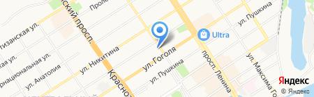 Астроном на карте Барнаула