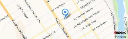 Барнаульский гарнизонный военный суд на карте Барнаула