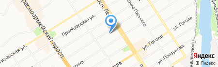 Денталь на карте Барнаула