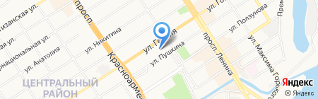 Супротек на карте Барнаула