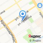 Главпроект на карте Барнаула