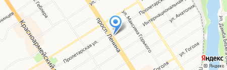 Банкомат ЮниКредит Банк на карте Барнаула