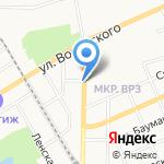 Магазин фастфуда на карте Барнаула