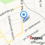 Олти на карте Барнаула