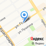 Фотостудия Елены Ивакиной на карте Барнаула