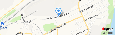 Детский сад №168 на карте Барнаула