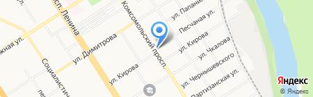 Институт дополнительного профессионального образования на карте Барнаула