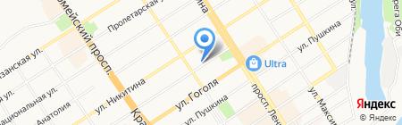 Арго на карте Барнаула