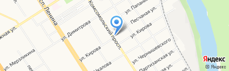 Высшая народная школа для взрослых на карте Барнаула