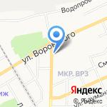Русский холодъ на карте Барнаула